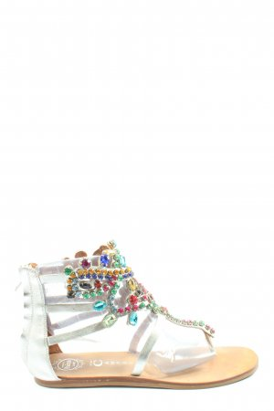 Jeffrey Campbell Flip-Flop Sandals silver-colored casual look