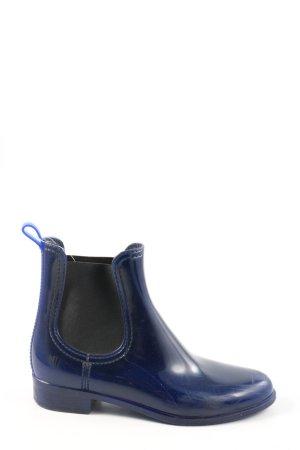 Jeffrey Campbell Botte en caoutchouc bleu-noir style décontracté