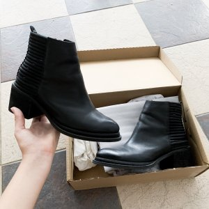 Jeffrey Campbell Lowell Ankle Boots Pumps Riemchen Booties Stiefeletten Stiefel Cowboy Western vintage retro