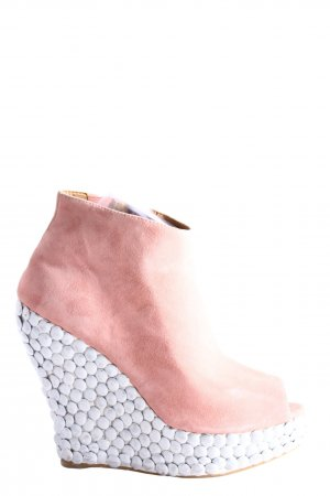 Jeffrey Campbell Plateauzool pumps roze-wit casual uitstraling