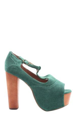 Jeffrey Campbell Platform High-Heeled Sandal green elegant
