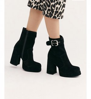 Jeffrey Campbell Platform Boots Ankle Booties Stiefel Stiefeletten Free People retro vintage