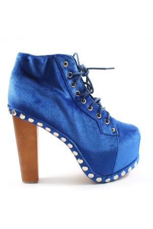 Jeffrey Campbell Sznurowane botki niebieski Elegancki