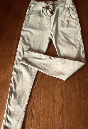 JEGGINGS Damenhose Khaki graugrün Gallonstreifen