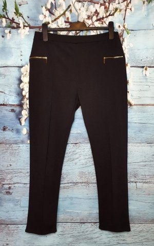 Jeggings black-gold-colored polyester