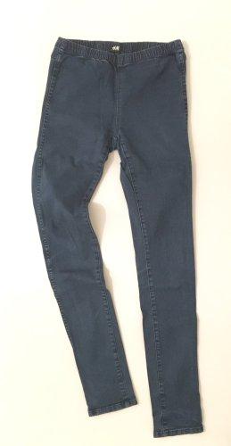 H&M Stretch Trousers dark blue