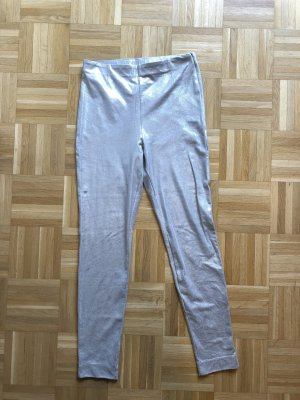 H&M Basic Jeggings silver-colored polyester