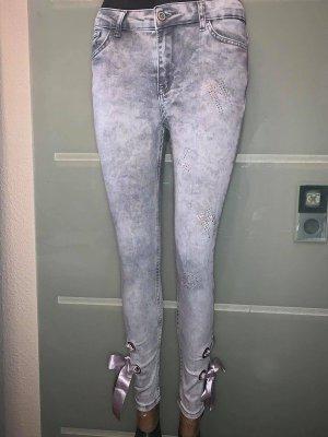 Jeggings color plata-gris Algodón