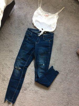 Zara Pantalone a 7/8 blu scuro