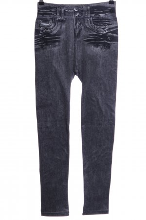 Jeggings nero stile casual
