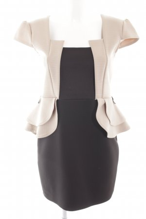 Jela London Minikleid schwarz-creme Business-Look