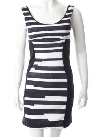 Jela London Trägerkleid schwarz-weiß Streifenmuster