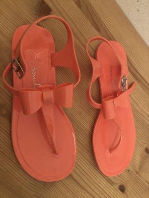 Jelly Riemchen-Sandale mit Masche