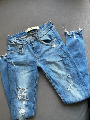 Primark Jeans taille haute bleu acier