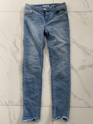 Only Pantalon boyfriend bleu acier