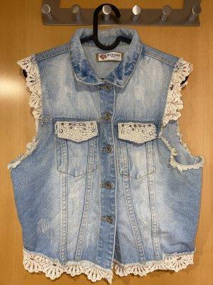 Blue Rags Veste en jean multicolore