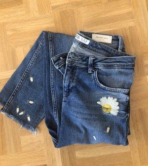Zara Jeansy z prostymi nogawkami Wielokolorowy
