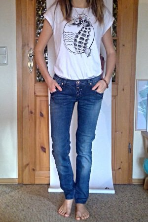 Take Two Jeans vita bassa blu Cotone