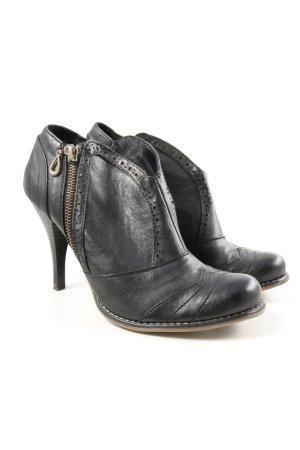 """JENNIFER&JENNIFER Chaussure à talons carrés """"W-nsr48t"""" noir"""