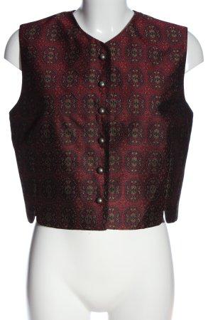 Jennifer Moore Gilet tricoté imprimé allover style décontracté