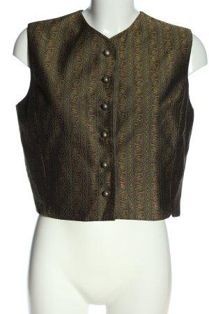 Jennifer Moore Gilet tricoté vert-bronze imprimé allover style extravagant