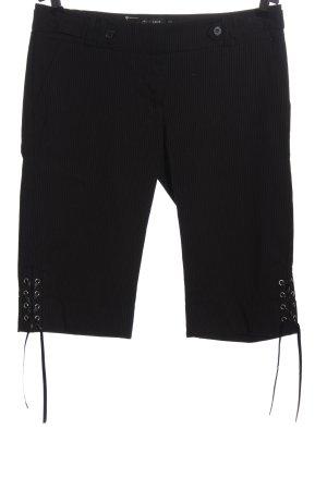 Jennifer Taylor Pantalón pirata negro-blanco puro estampado a rayas look casual