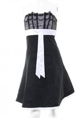 Jennifer Taylor Bandeaukleid schwarz-weiß Elegant