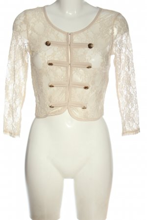 Jennifer Taylor Giacca a blusa bianco sporco stile casual