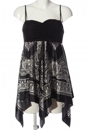 Jennifer Taylor Empire Dress black-white mixed pattern casual look