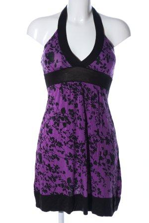 Jennifer Taylor Jerseykleid lila-schwarz Allover-Druck Casual-Look