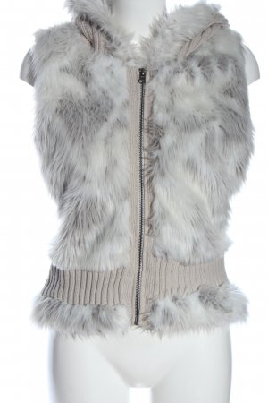 Jennifer Taylor Hooded Vest natural white-light grey casual look