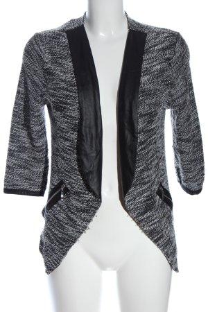 Jennifer Taylor Korte blazer zwart-wit gestippeld casual uitstraling