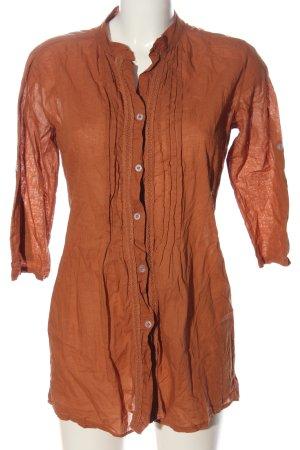 Jennifer Taylor Chemise à manches longues orange clair style décontracté