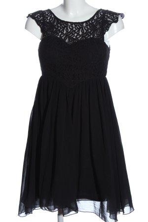 Jennifer Taylor Chiffonkleid schwarz Elegant