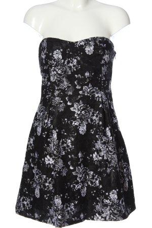 Jennifer Taylor Minikleid schwarz-weiß Allover-Druck Elegant