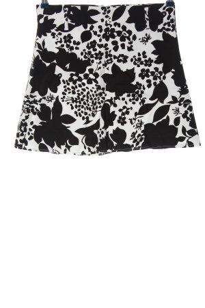 Jennifer Taylor Minifalda negro-blanco estampado floral look casual