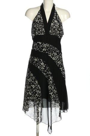 Jennifer Taylor Neckholderkleid schwarz-wollweiß Blumenmuster Casual-Look