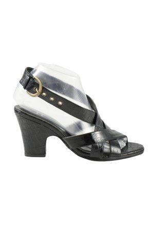 Jennifer Taylor Riemchen-Sandaletten schwarz Animalmuster Elegant