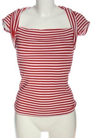 Jennifer Taylor Maglietta a righe rosso-bianco motivo a righe stile casual