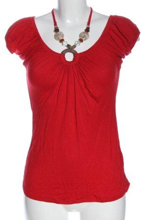 Jennifer Taylor T-shirt rosso stile casual