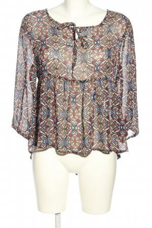 Jennifer Taylor Schlupf-Bluse grafisches Muster Casual-Look