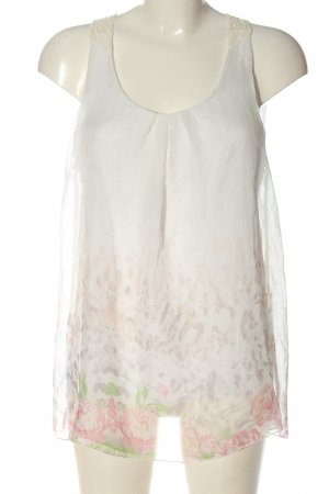 Jennifer Taylor Blusa bianco motivo floreale elegante
