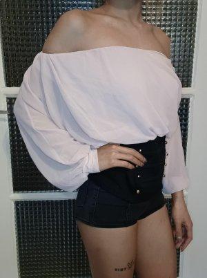 Jennifer Taylor Camicetta body nero-rosa pallido