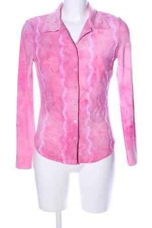 Jennifer Taylor Veste chemise rose-blanc cassé motif de fleur