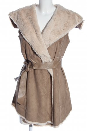 Jennifer Taylor Kunstfellweste bronzefarben-creme Casual-Look