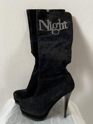Jennika Damen Stiefeln High Heels schwarz Plateau