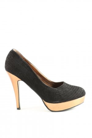 Jennika High Heels schwarz-goldfarben Elegant