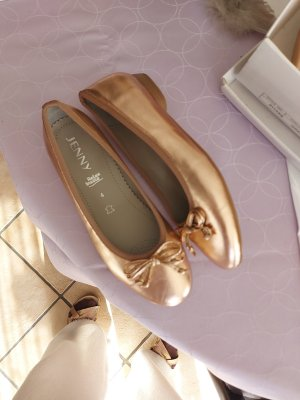 Jenny Ballerinas rosegold, Leder, Luftpolster