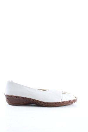 Jenny by ara Baleriny z odsłoniętym palcem biały W stylu casual