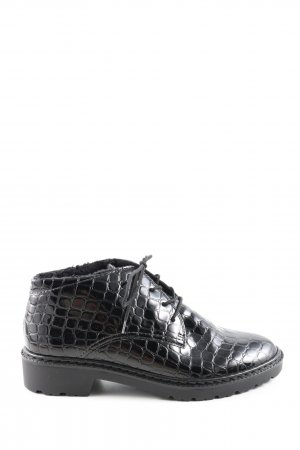 Jenny Desert Boots black animal pattern casual look